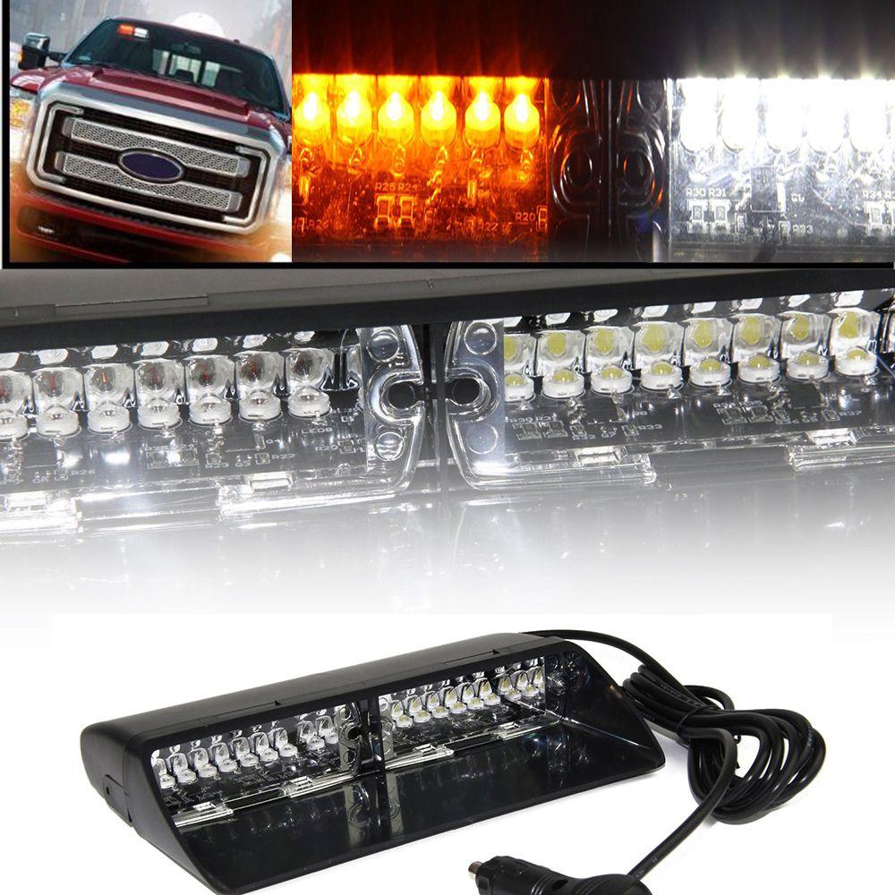 Led Strobe Lights For Trucks Beauteous White Yellow 16 Led Strobe Light High Intensity Led Emergency Hazard Decorating Design