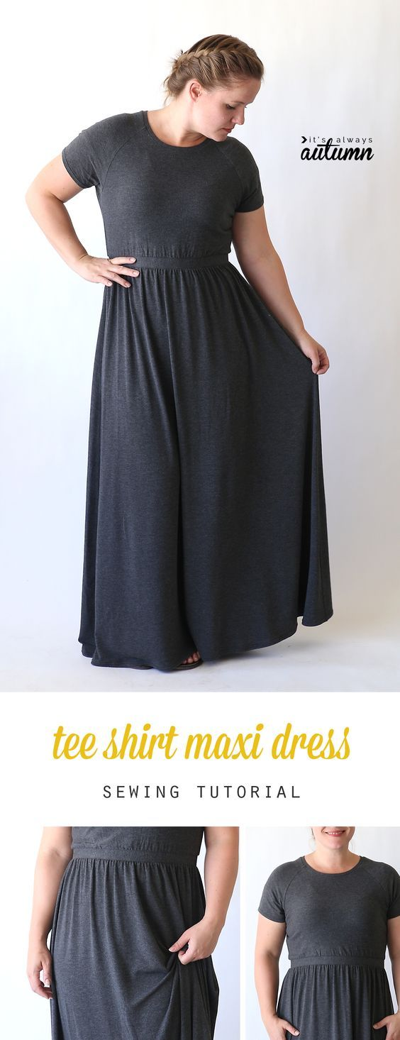 How to sew a raglan tee maxi dress maxi dresses tee shirt and