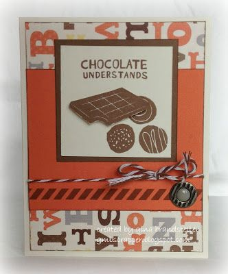 August '13 - A Chocolate Affair with Babycakes paper - Gina's Little Corner of StampinHeaven