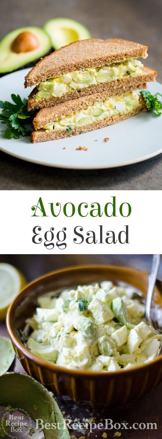 Avocado Egg Salad - Avocado Egg Salad Recipe | Best Recipe Box -