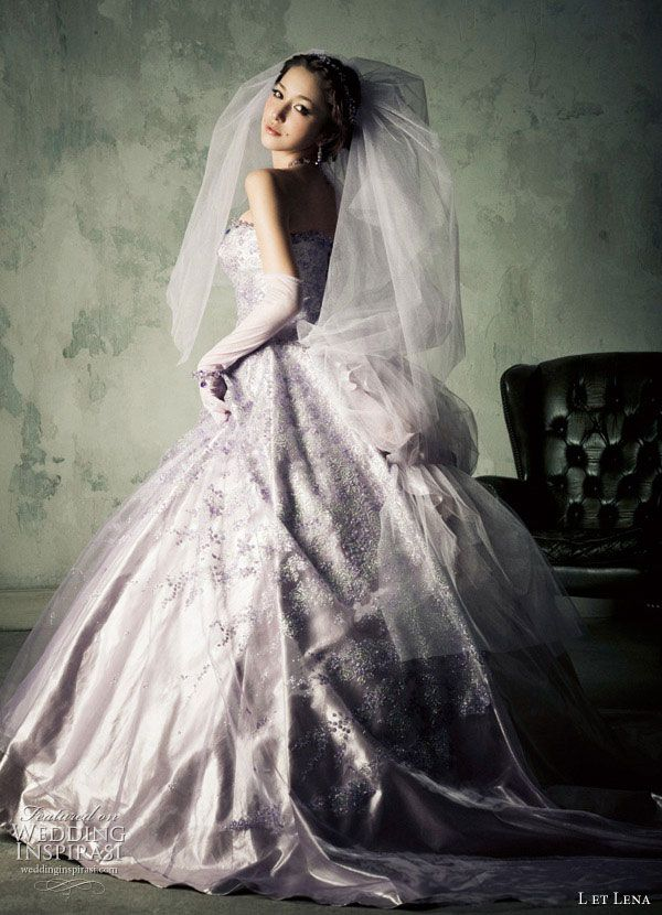 L et Lena Wedding Dresses | Ball gowns, Lavender and Wedding dress