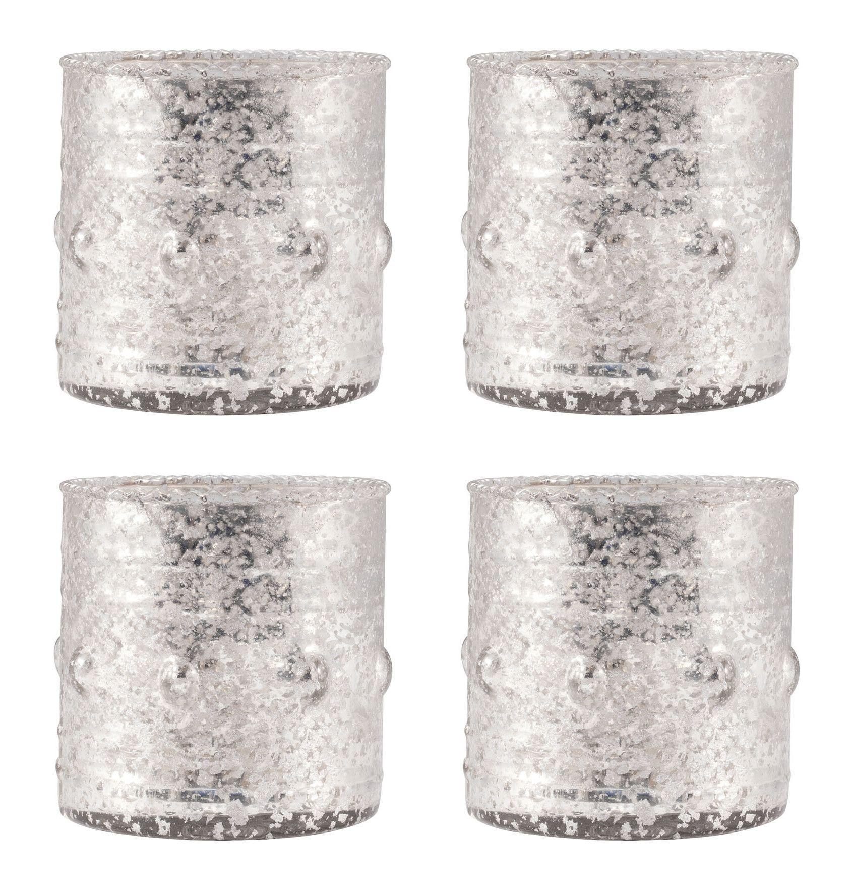 4 Piece Glass Votive Set