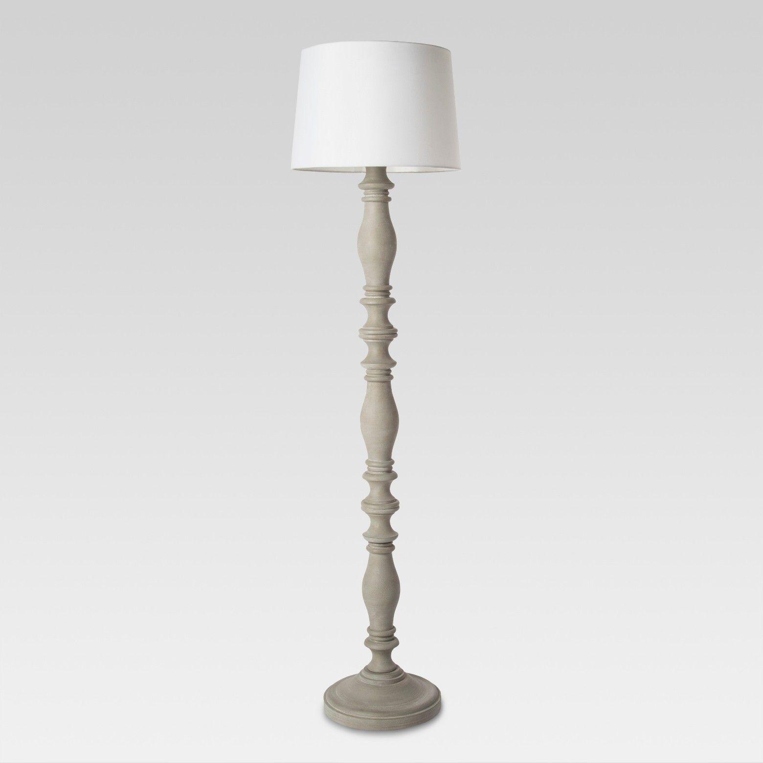 Turned Polywood Floor Lamp Threshold Floor Lamp Grey Floor