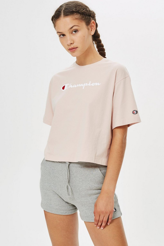 Cropped Script Logo T Shirt By Champion Champion Clothing Champion Shirts Tshirt Outfits [ 1530 x 1020 Pixel ]