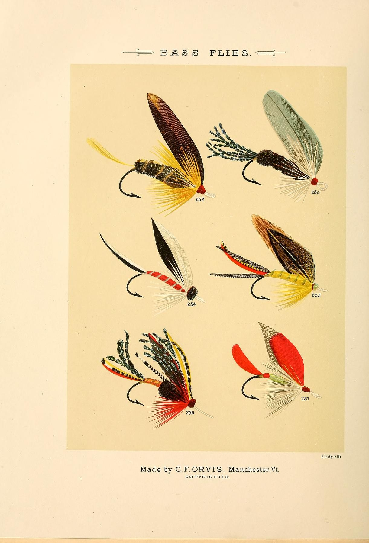 B Flies Mary Orvis Marbury Favorite And Their Histories 1892