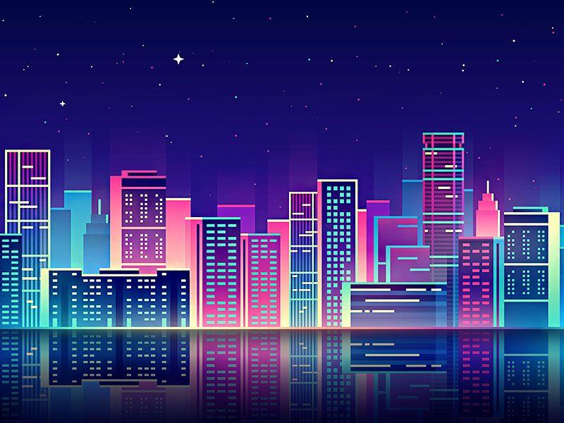 Fondo De Pantalla Abstracto Corriente De Cruces: City Lights в 2019 г.