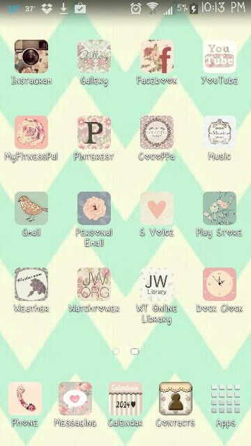 I made my phone cute! Download cocoppa in the apple or