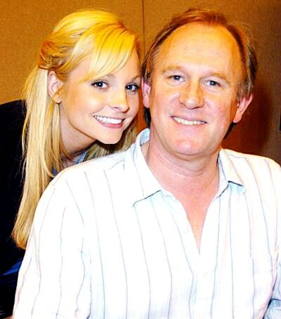 The fifth doctor and his real life daughter...we all know