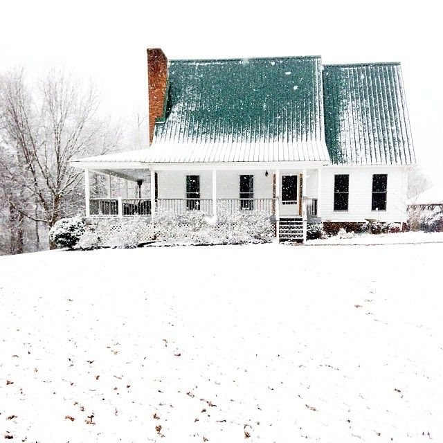Six Months In :: Snow at the farm www.thenester.com