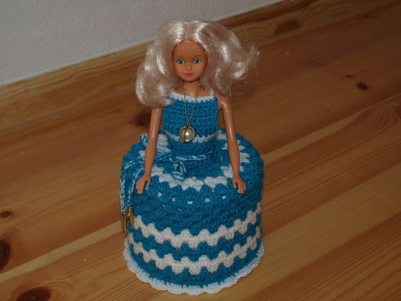 Klohut Toilettenpapierhut Barbie Hakeln Muster Hakelanleitung Hakeln Anleitung