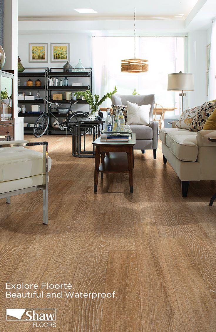 Premio Plank, a luxury vinyl floor, is created using high