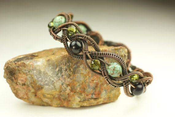 Tessuti di filo di rame intrecciato braccialetto di DesignsByKaska