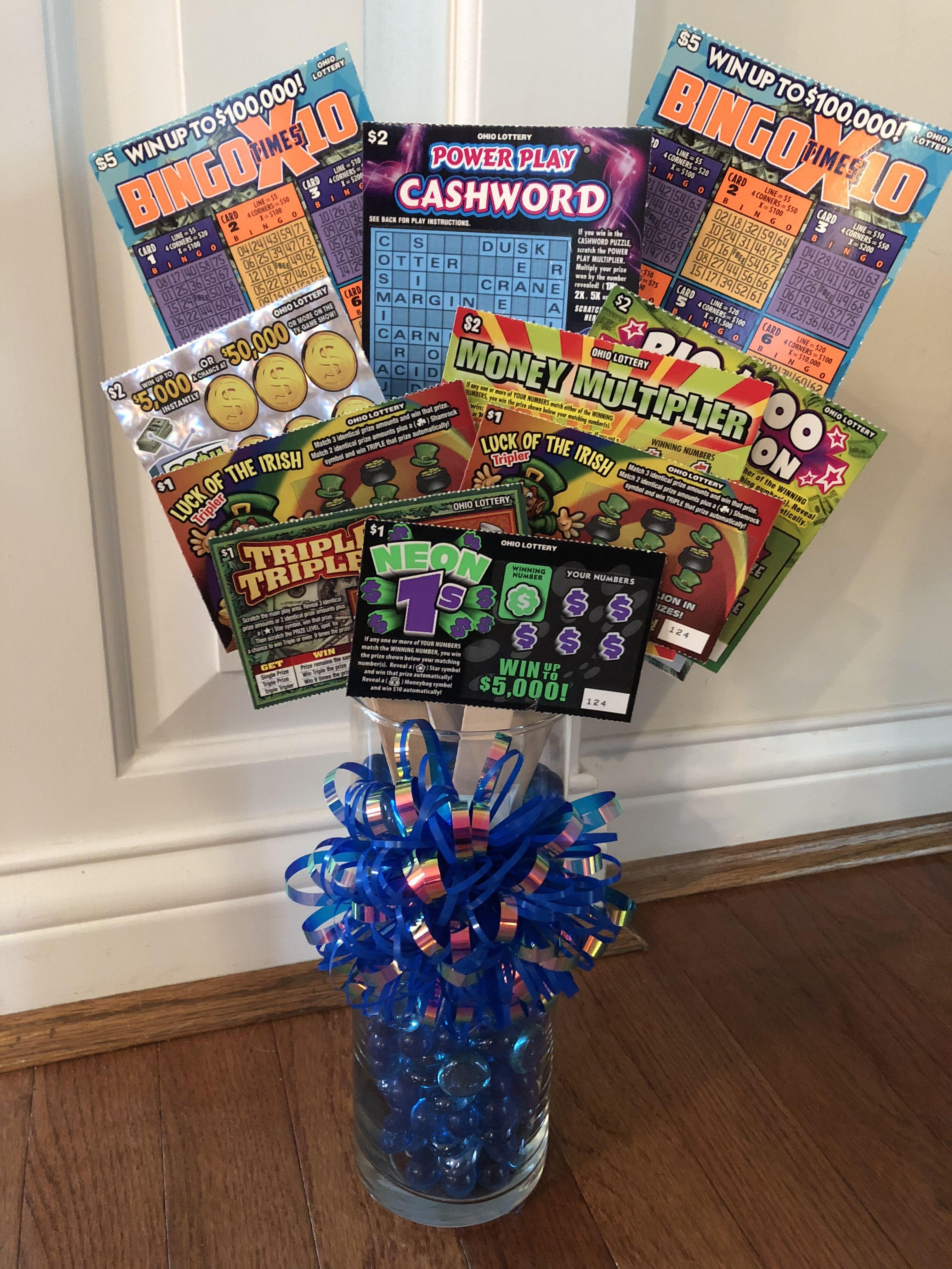 Diy lottery ticket bouquet lottery ticket bouquet