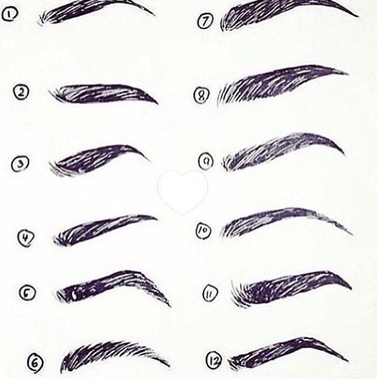 Different Shapes Of Eyebrows Eyebrow Growth Journey Pinterest
