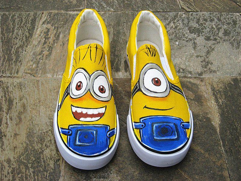 minion shoes despicable me shoes despicable me by Kingmaxpaints ... 715a7dc7c
