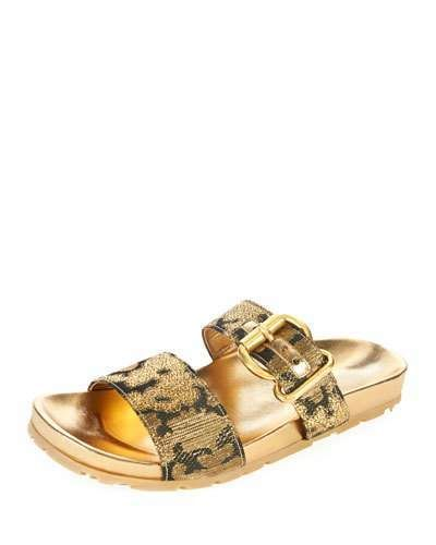 Double-strap camouflage-jacqaurd sandals Prada Free Shipping Pick A Best Cheap Real Authentic A74GWJGCT