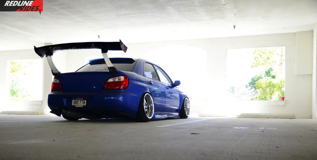Dumped static WRX with a massive Big Country Labs wing ...