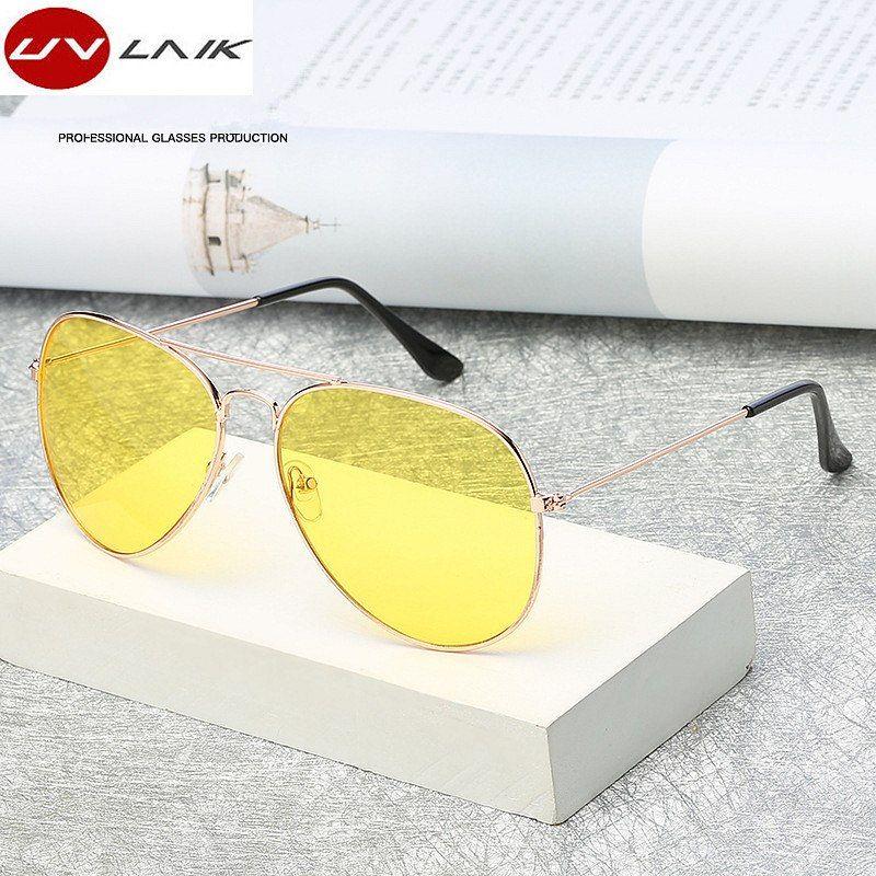 80d404f98c7  6.9 - Awesome UVLAIK Pilot Aviation Night Vision Sunglasses Men Women  Goggles Glasses UV400 Sun Glasses Driver Night Driving Eyewear - Buy it Now!
