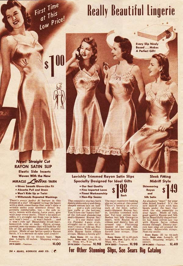 Image result for 1940s slip ads