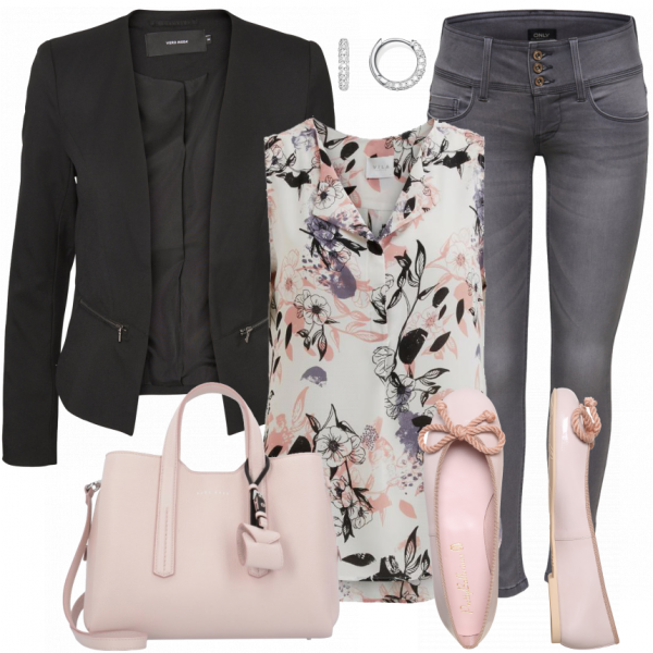 PinkFlower Outfit  – Business Outfits  bei FrauenOutfits.de