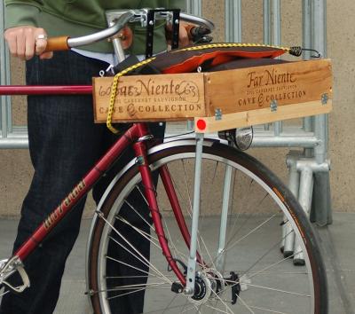 Wine Box Bike Basket Custom Diy Modification Bike Basket Bike