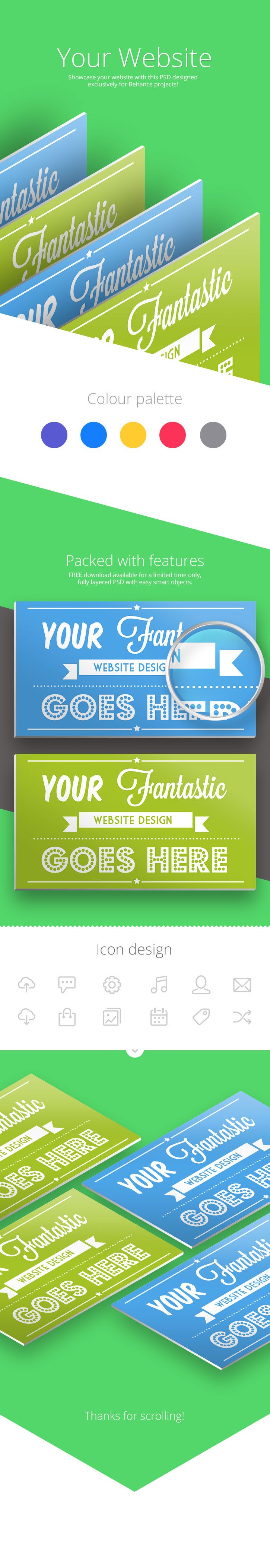 behance website showcase template pitchstock design promotion