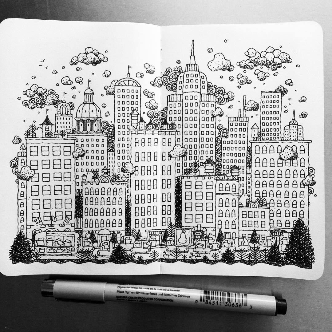 The City #illustration #drawing #penandink #mymoleskine ...