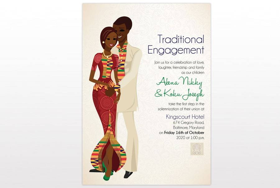 Ghana Traditional wedding invitation Card 2 My Style Pinterest