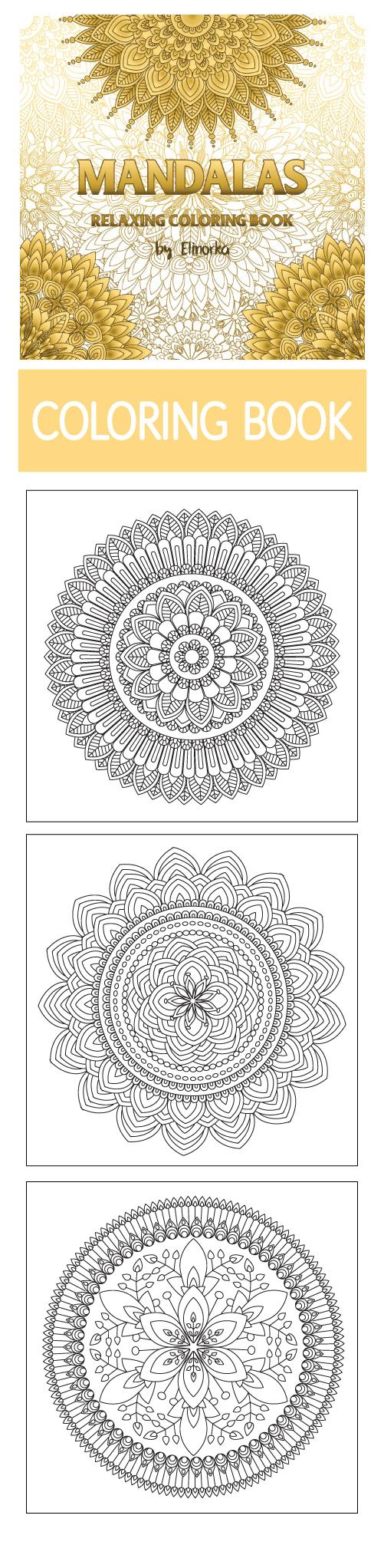 Mandalas: Relaxing Coloring Book for Adults. #mandala #coloring ...