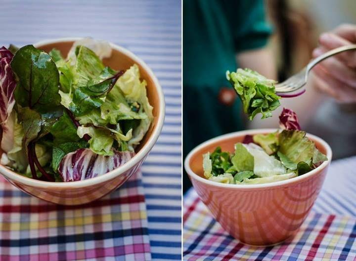 Ensalada verde con vinagreta de mostaza, aceite de oliva y limón. #micasa #ensaladas