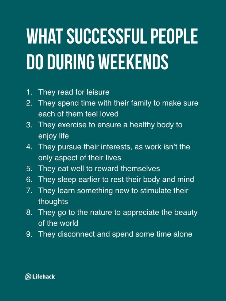 They Think Successful People Work During Weekends, But The Truth Isn't...