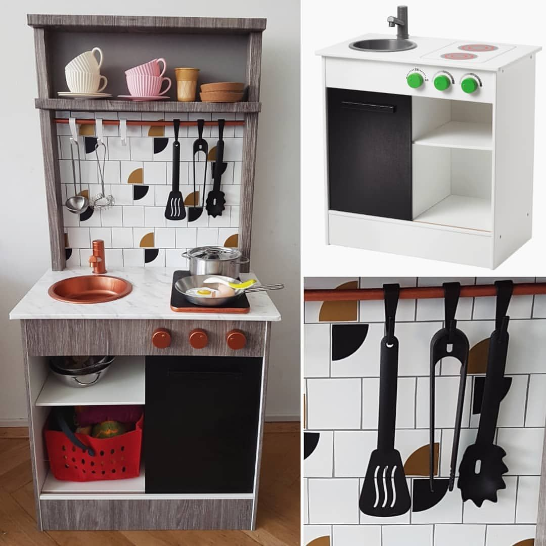 Ikeahack Ikeadiyhack Ikeaplaykitchen Nybakad Playkitchen Toddler Ikea Play Kitchen Kids Play Kitchen Play Kitchen