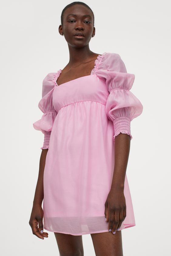 kleid mit puffärmeln - hellrosa - ladies | h&m de in 2020