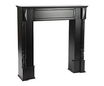 manteau de chemin e noir l110 d co maison interior. Black Bedroom Furniture Sets. Home Design Ideas