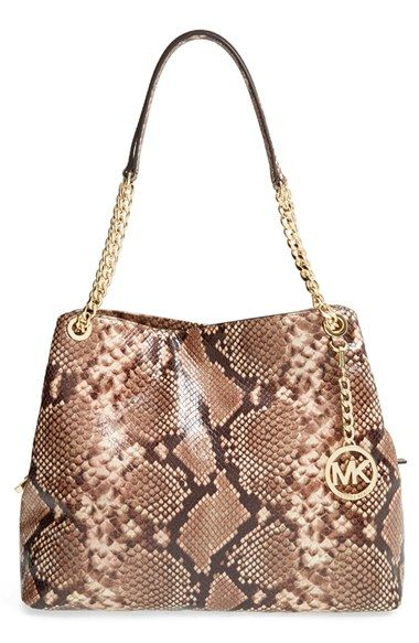 6239ffaae MICHAEL Michael Kors 'Jet Set Chain' Python Embossed Shoulder Tote available  at #Nordstrom