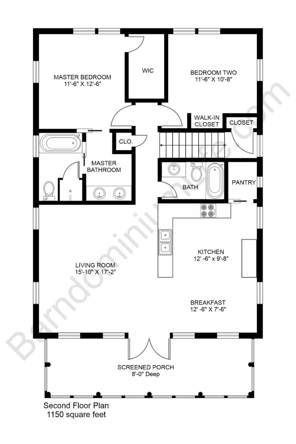 2 Bedroom Barndominium Floor Plans Great Floor Plan In 2020 Barndominium Floor Plans Loft Floor Plans Simple Floor Plans