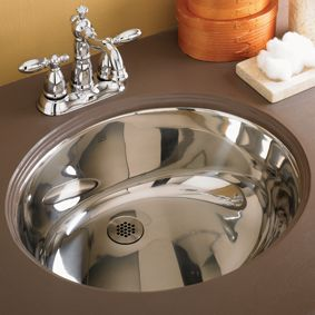 Decolav Simply Stainless Undermount Sink With Overflow 1300 Bathroom Sinks Fixtures Bed Bath