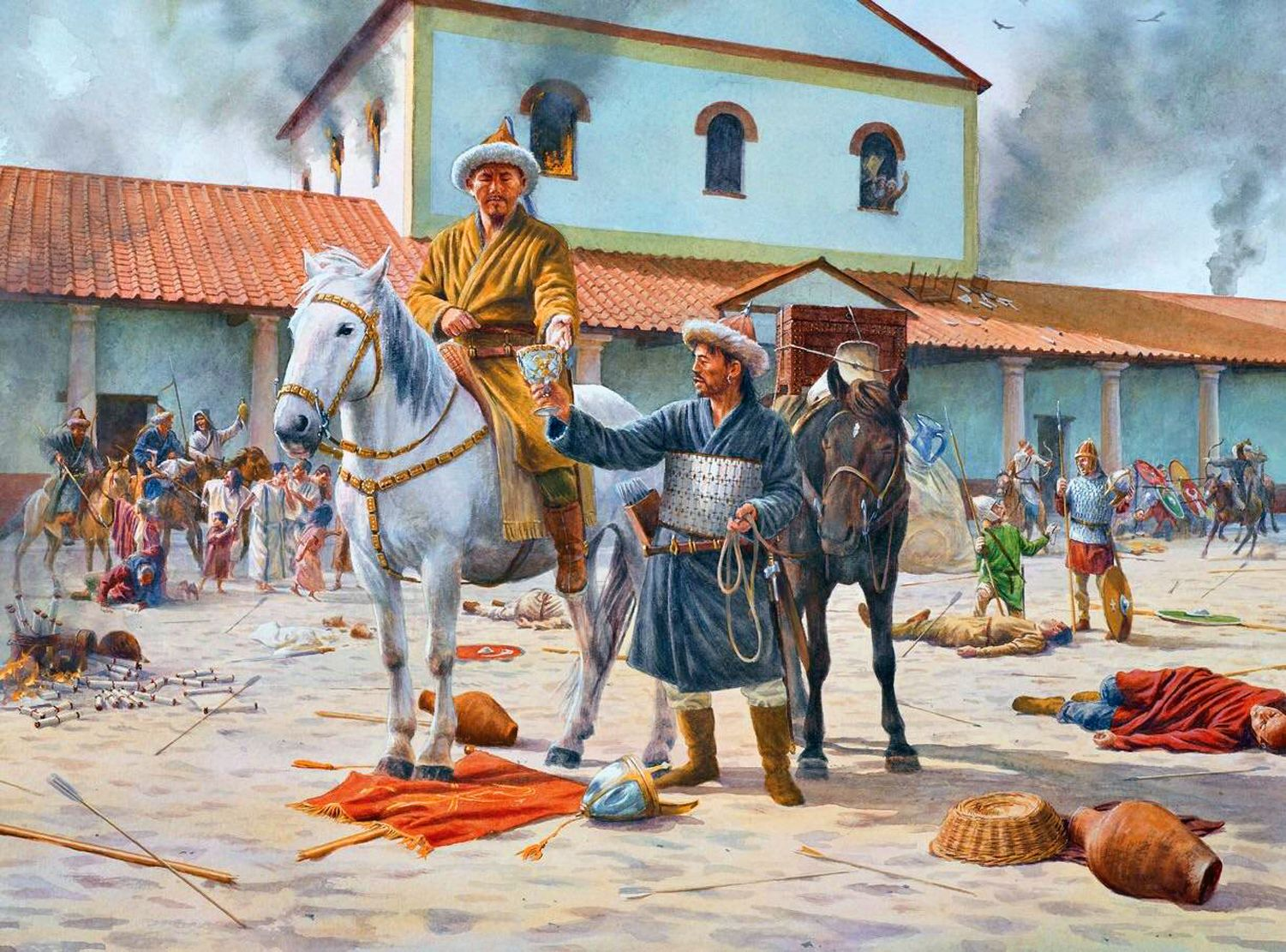 Attila The Hun during the sacking of Aquileia in 452- by ...