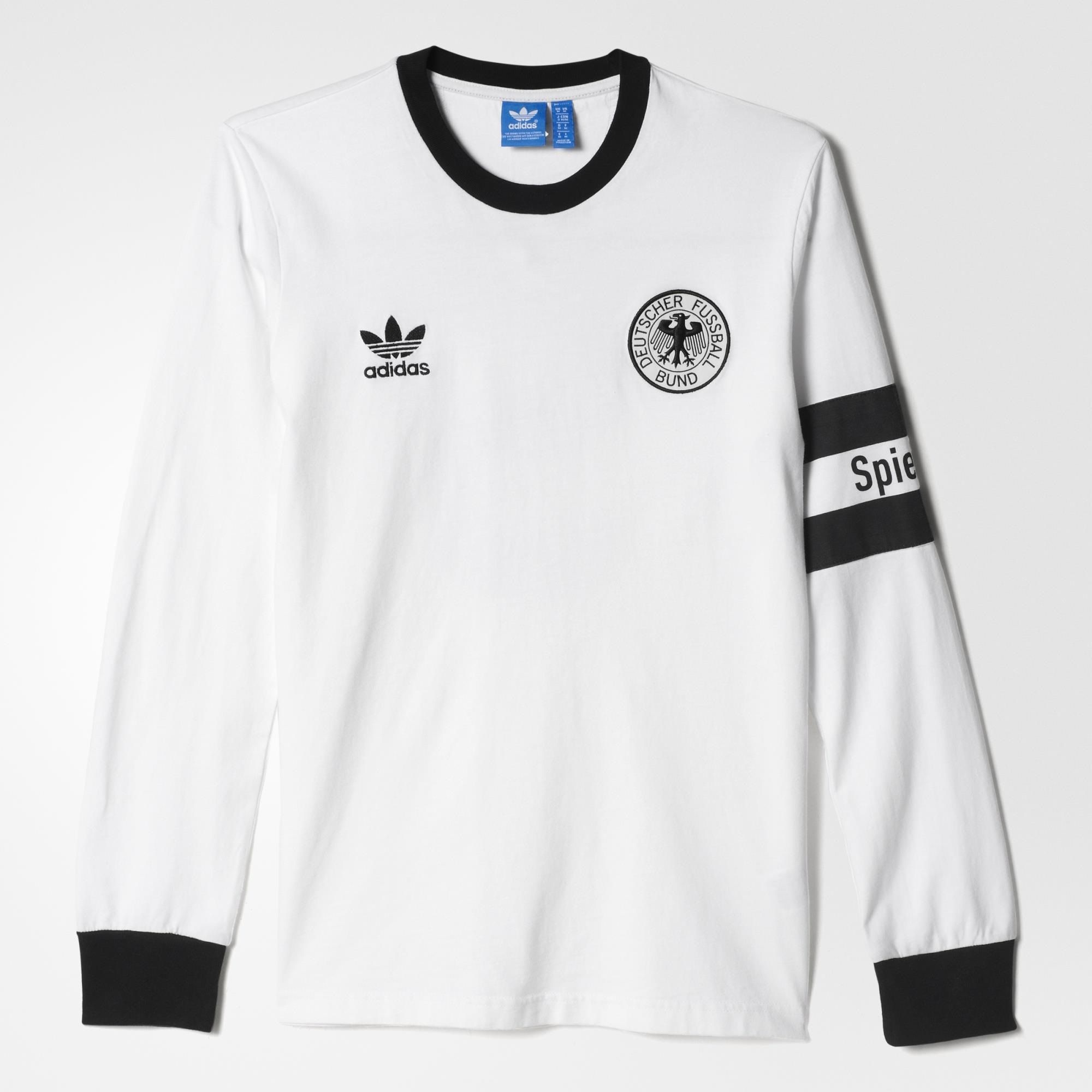 f28c68662 Pay tribute to the 50-year relationship between adidas and Franz  Beckenbauer. This men s long sleeve t-shirt revives the jersey from his 1974  victory.