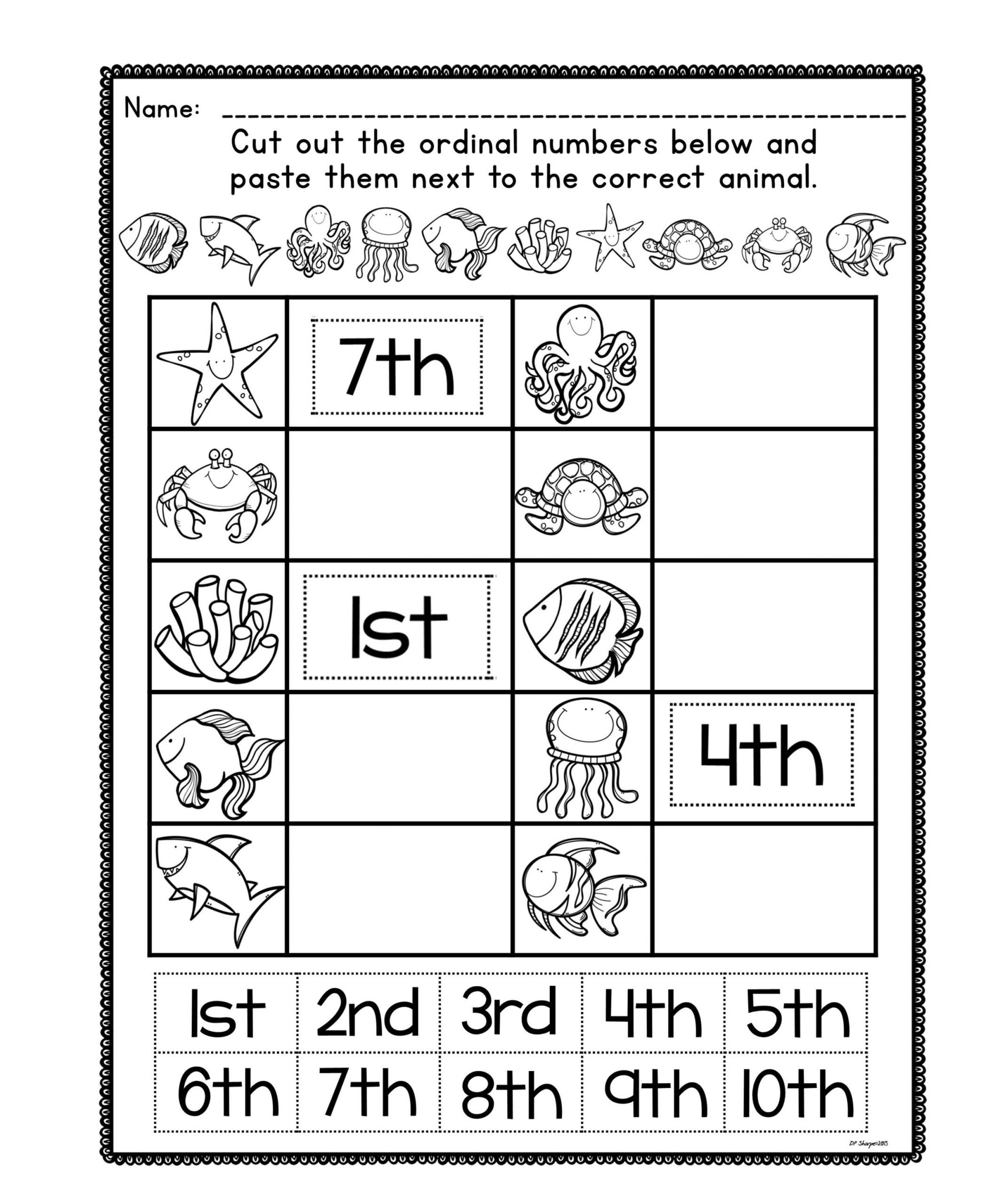 4 Worksheets Kindergarten Grade