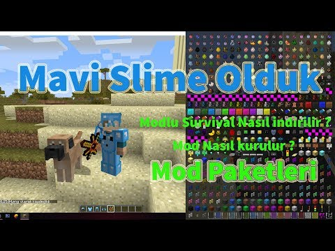 636 Minecraft Modlu Survival Nasil Indirilir Mavi Slime Seti Youtube Survival Minecraft Youtube