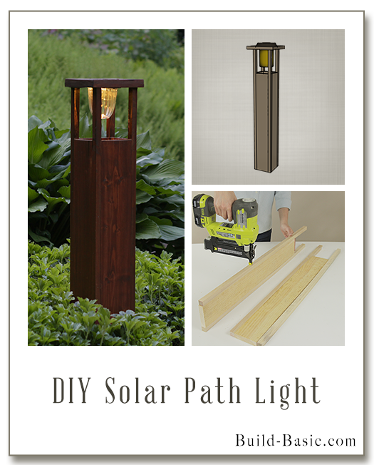 Diy Solar Path Light By Build Basic Display Frame Solar Path Lights Solar Lights Diy Backyard Solar Lights