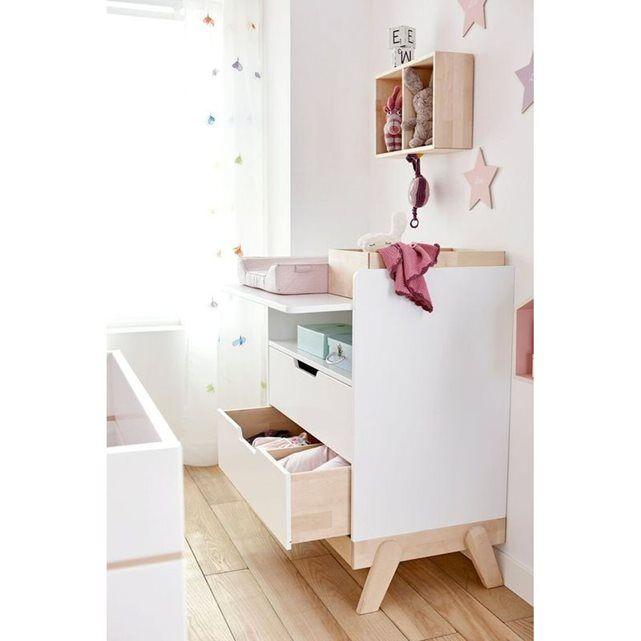 Table à langer avec 2 tiroirs Malo | Table à langer, Table a ...
