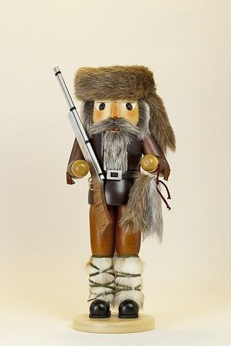 Fur Trapper German Wooden Christmas Nutcracker Made in Germany Decoration New