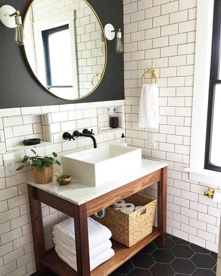 Smallspace Decor: Basic Open Wood Frame Base With An Ikea Tyngen ($50) Sink