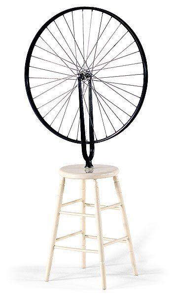 Cual el significado de la obra la Rueda de Bicicleta?   Marcel duchamp, Ruedas de bicicleta, Objetos encontrados