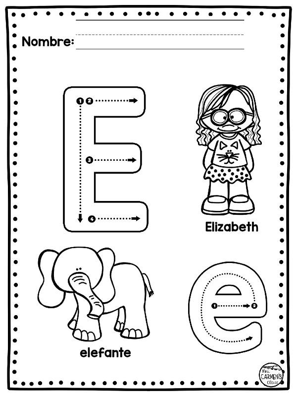 Abecedario De Laminas Para Aprender Pintando Bebeazul Top Alphabet Preschool Alphabet Activities Preschool Elementary School Resources
