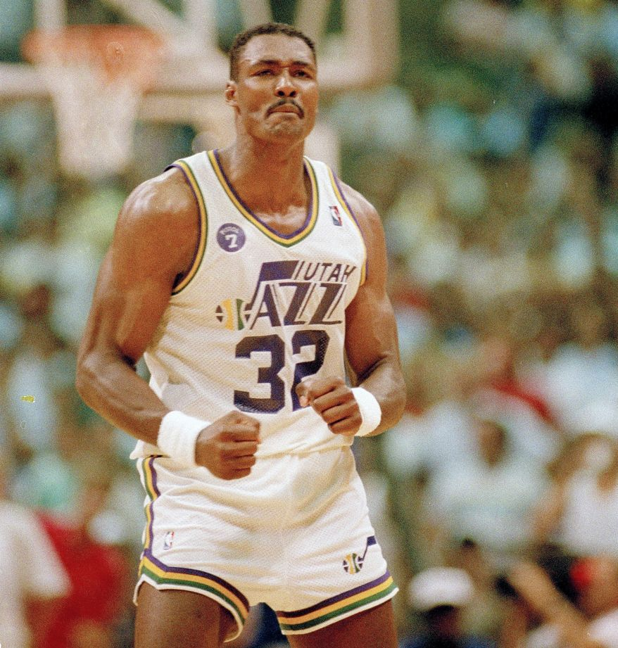 How did Karl Malone fall to the Jazz in the 1985 draft ...  Karl Malone Arms
