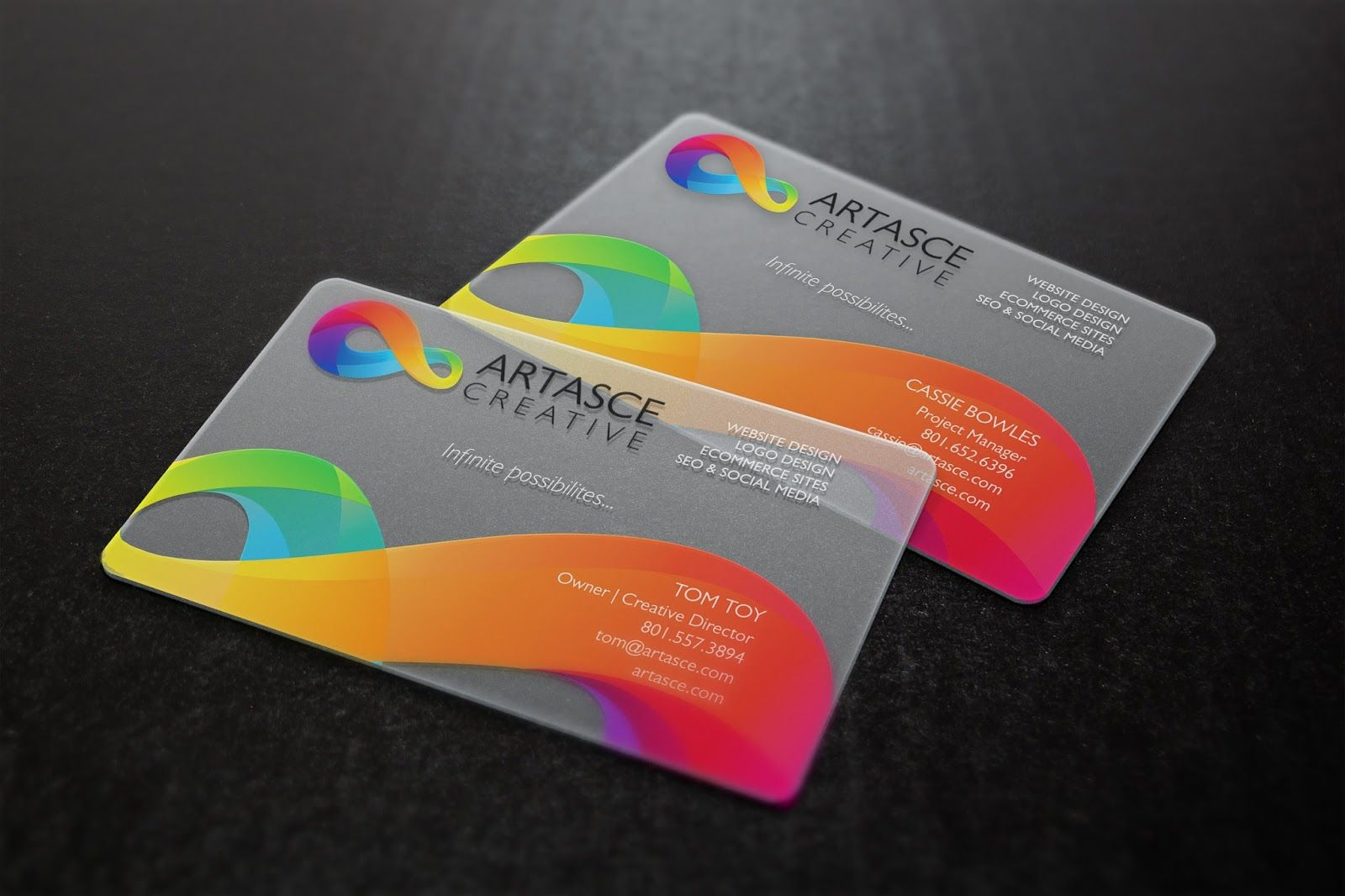Clear Plastic Business Cards Plastic Business Cards Design Printing Business Cards Plastic Business Cards