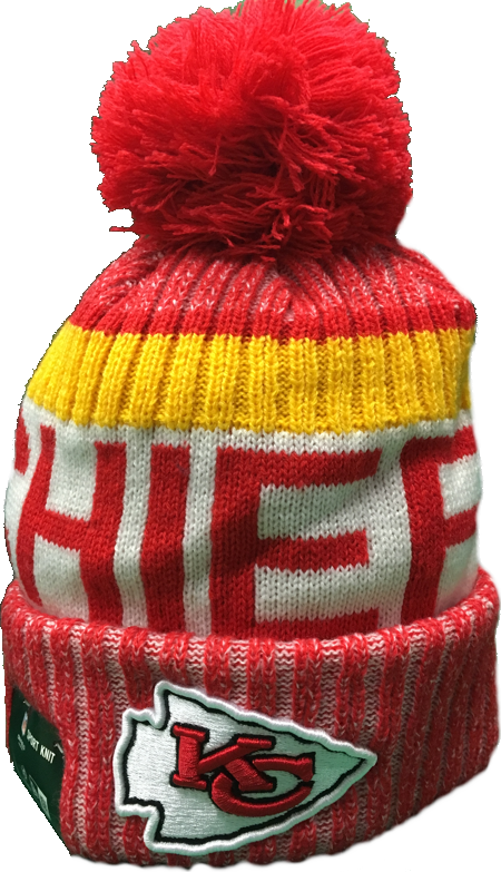 Kansas City Chiefs NFL 17 Sideline Pom Toque The